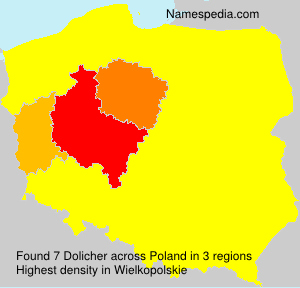 Familiennamen Dolicher - Poland