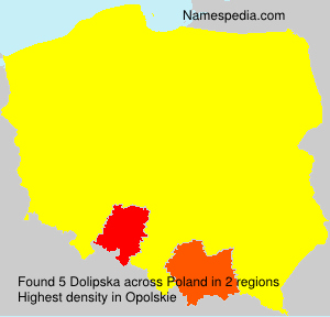 Surname Dolipska in Poland