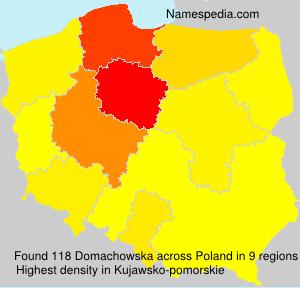 Surname Domachowska in Poland