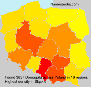 Surname Domagala in Poland
