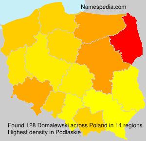 Surname Domalewski in Poland