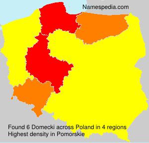 Familiennamen Domecki - Poland