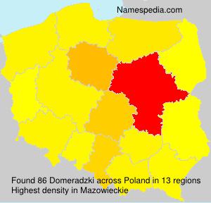 Surname Domeradzki in Poland