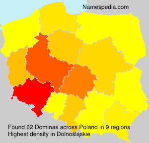 Surname Dominas in Poland