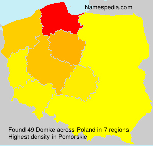 Surname Domke in Poland