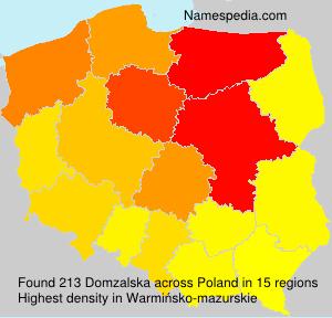 Surname Domzalska in Poland