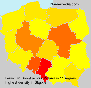 Surname Donat in Poland