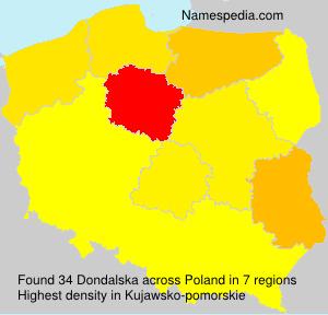 Familiennamen Dondalska - Poland