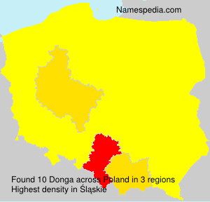Surname Donga in Poland