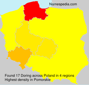 Surname Doring in Poland