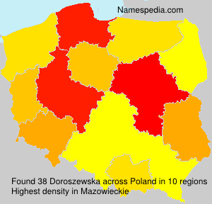 Familiennamen Doroszewska - Poland