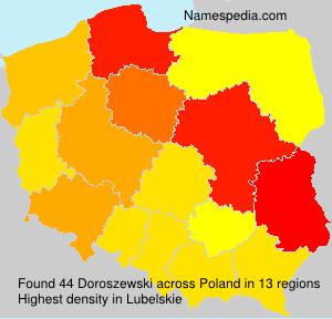 Familiennamen Doroszewski - Poland