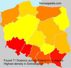 Surname Doskocz in Poland