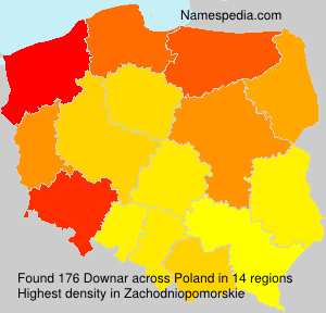 Surname Downar in Poland