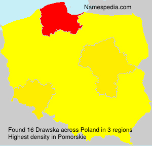 Surname Drawska in Poland