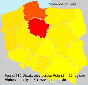 Surname Drazkowski in Poland