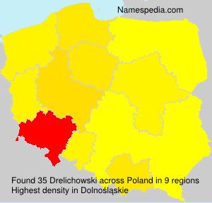 Surname Drelichowski in Poland