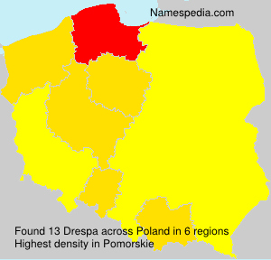 Surname Drespa in Poland