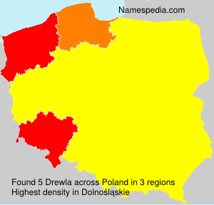 Surname Drewla in Poland