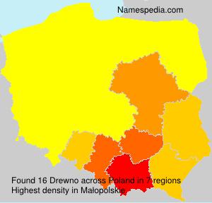 Surname Drewno in Poland