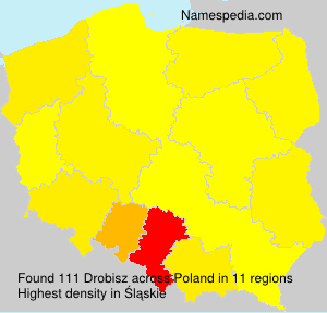 Surname Drobisz in Poland