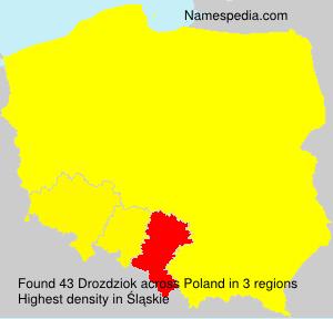 Familiennamen Drozdziok - Poland