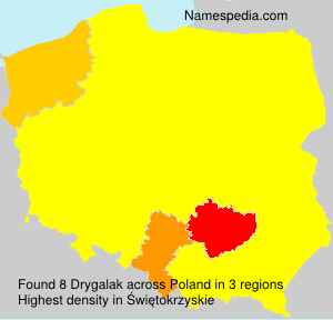 Surname Drygalak in Poland