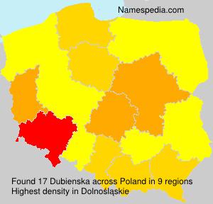 Surname Dubienska in Poland