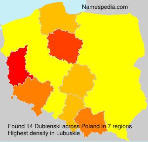 Surname Dubienski in Poland