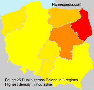Surname Dubilo in Poland
