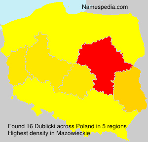 Familiennamen Dublicki - Poland