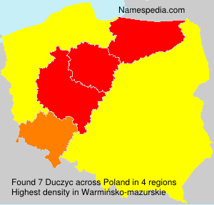 Surname Duczyc in Poland