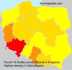 Surname Dudlej in Poland