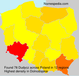 Surname Dudycz in Poland