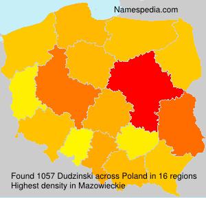 Surname Dudzinski in Poland