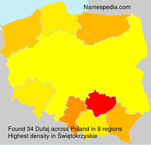 Surname Dufaj in Poland