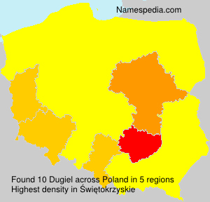 Surname Dugiel in Poland