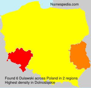 Surname Dulawski in Poland