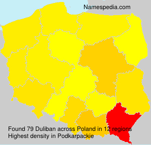 Surname Duliban in Poland