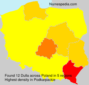 Surname Dulla in Poland