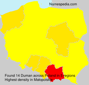 Surname Duman in Poland