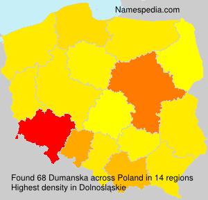 Familiennamen Dumanska - Poland