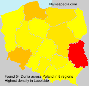 Surname Dunia in Poland