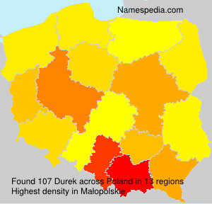 Surname Durek in Poland
