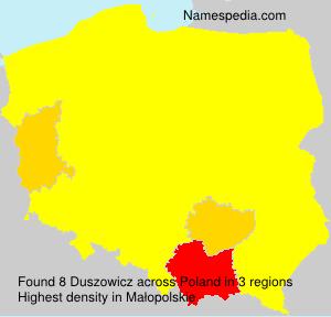 Surname Duszowicz in Poland