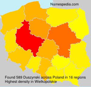 Surname Duszynski in Poland