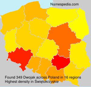 Familiennamen Dwojak - Poland