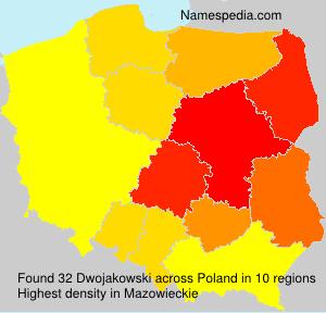 Surname Dwojakowski in Poland