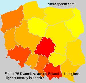 Surname Dwornicka in Poland