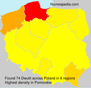 Surname Dwulit in Poland